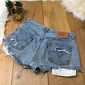 Levi's Cut Off  Distressed Shorts